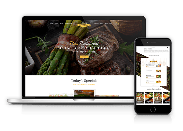 gourmet restaurant website