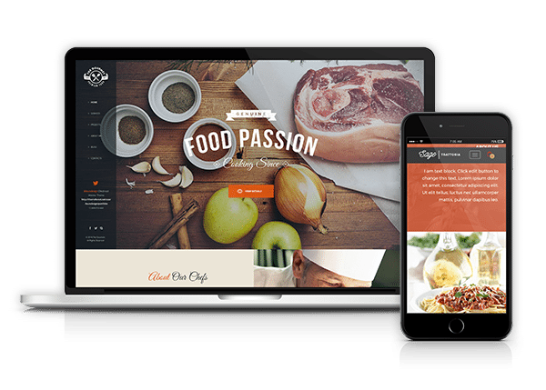 Burger website design